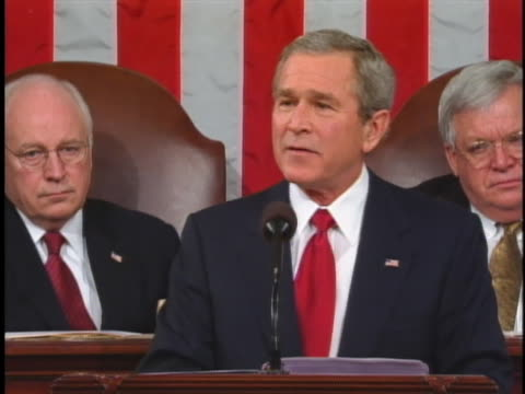 george w. bush talks about freedom in adversity in his 2005 state of the union address. - united states and (politics or government) stock videos & royalty-free footage