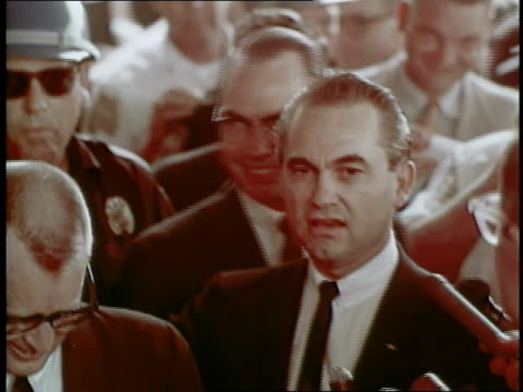 george wallace attends a rally at the university of alabama in an effort to prevent two black students from enrolling - separation stock videos & royalty-free footage