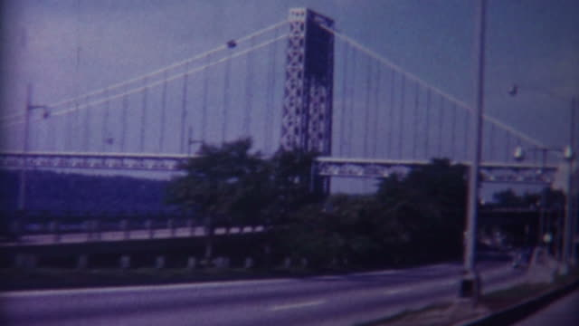 george washington bridge 1959 - old fashioned stock videos & royalty-free footage
