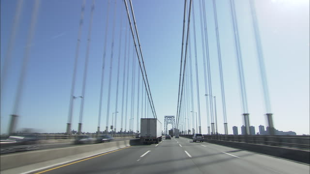 George Washington Bridge drive shot