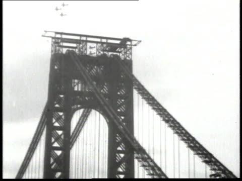 1932 montage george washington bridge / new york city, new york, united states - 1932 stock videos & royalty-free footage