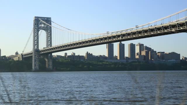 george washington bridge, nyc - george washington stock videos and b-roll footage