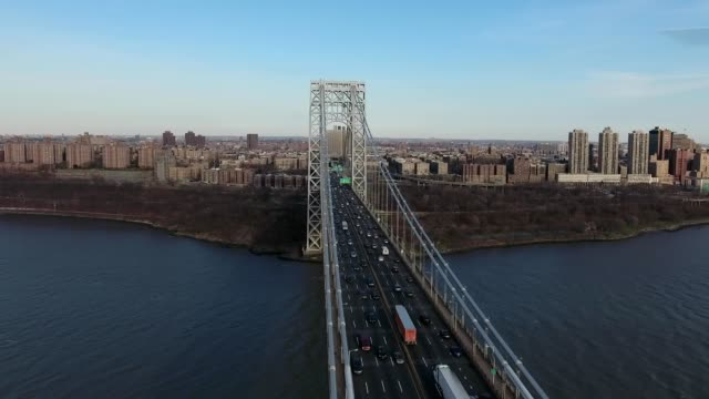 george washington bridge nyc - bronx new york stock videos and b-roll footage