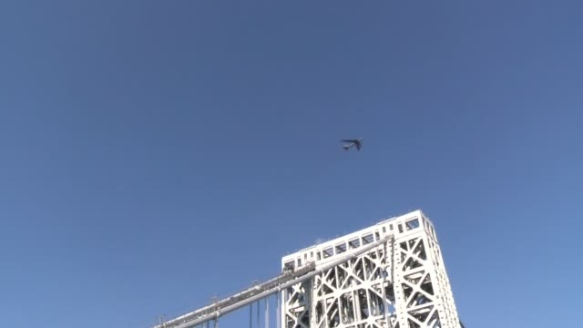 george washington bridge on - salmini stock videos & royalty-free footage