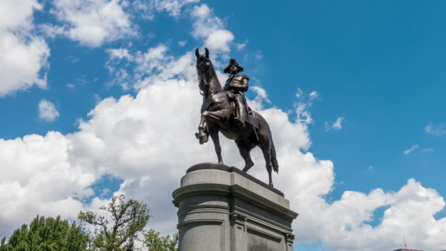 george washington statue boston - boston massachusetts stock videos & royalty-free footage