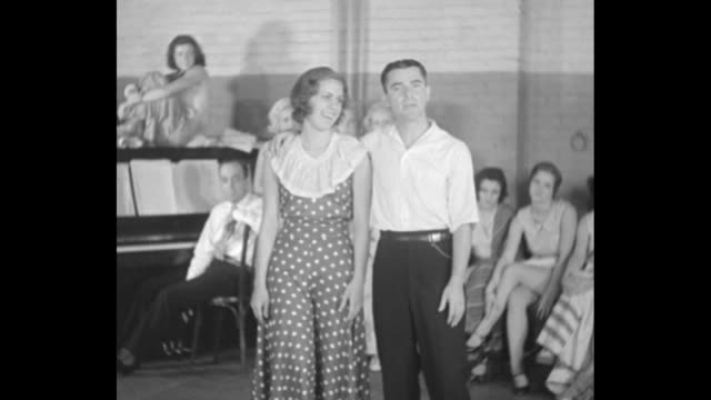 George White introduces Ethel Barrymore Colt / SOT closeup of Barrymore Colt expressing gratitude for chance to break into musical comedy / she...