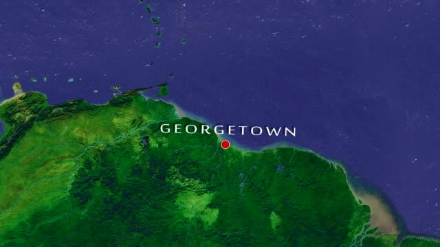 georgetown 4k zoom in - guyana stock videos & royalty-free footage