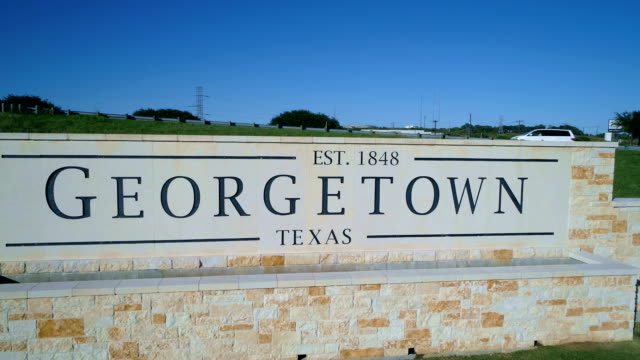 Georgetown , Texas Welcome Sign