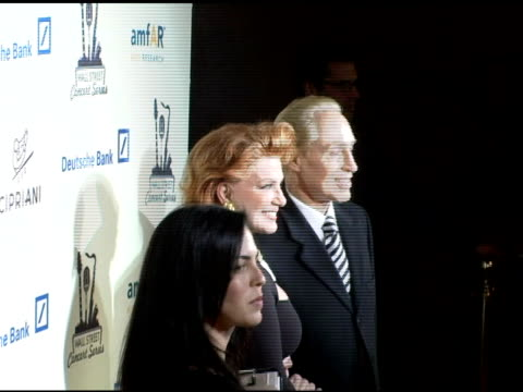 georgette mosbacher and guest at the 2006 cipriani/deutsche bank concert series benefiting amfar at cipriani in new york, new york on april 19, 2006. - マンハッタン チプリアーニ点の映像素材/bロール