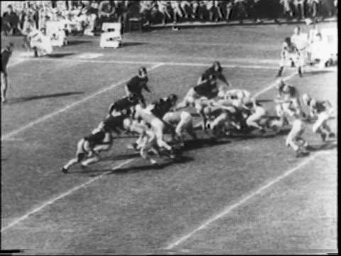 georgia beats texas christian at orange bowl stadium in miami 4026 / georgia's frank sinkwich passes to lamar davis / kenneth keuper runs in for... - ncaa college football stock videos and b-roll footage