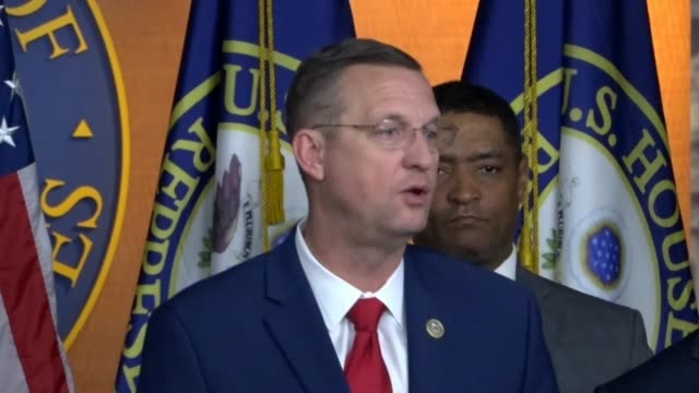 georgia congressman doug collins says at a press conference after the first step act criminal justice reform bill was passed and ready to be signed... - disegno di legge video stock e b–roll