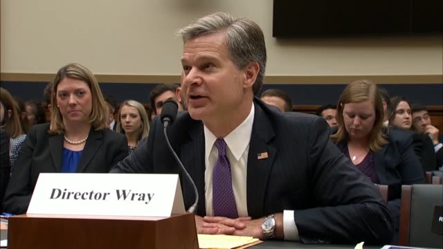 georgia congressman hank johnson questions christopher wray at a house judiciary committee in a hearing on the 2016 investigations about how getting... - christopher a. wray stock videos & royalty-free footage