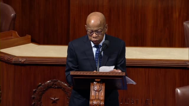 georgia congressman john lewis says in a floor speech not to delay or wait now the time to act he had been patient while every other path and tool... - house of representatives stock videos & royalty-free footage