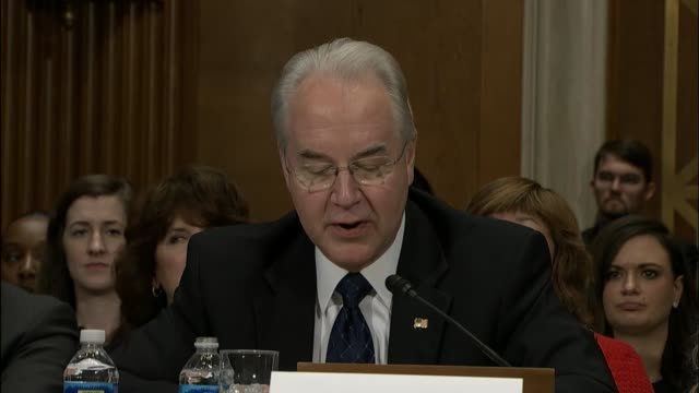 georgia congressman tom price tells members of the senate health education labor and pensions committee that he learned as much about government in... - humility stock videos and b-roll footage