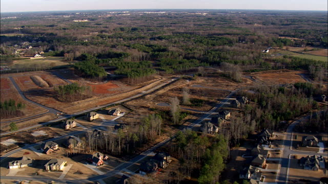 georgia landscape - aerial view - georgia,  henry county,  united states - georgia country stock videos and b-roll footage