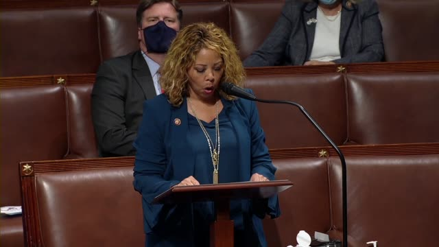 georgia representative lucy mcbath says in floor debate on the george floyd justice in policing act that she was keenly aware of living for history... - social justice concept 個影片檔及 b 捲影像