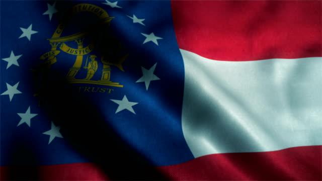 georgia state flag - georgia us state stock videos and b-roll footage