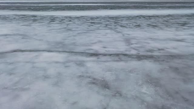 georgiska viken på vintern nära tiny, lake huron,ontario, kanada. - nordamerika bildbanksvideor och videomaterial från bakom kulisserna