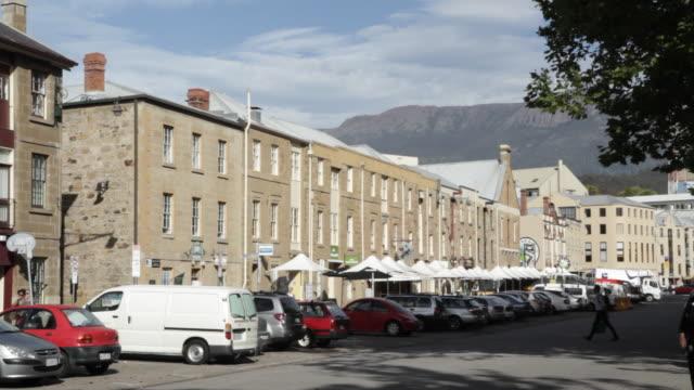 Georgian buildings in Salamanca Market area, Hobart