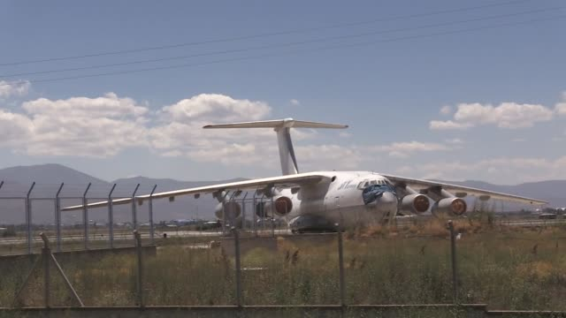 georgian cargo plane which landed at an airport in eastern turkey more than nine years ago after delivering humanitarian aid to nearby earthquake... - {{relatedsearchurl(carousel.phrase)}} stock-videos und b-roll-filmmaterial