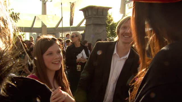 Georgie Henley and Andrew Adamson at the Prince Caspian European Premiere at London