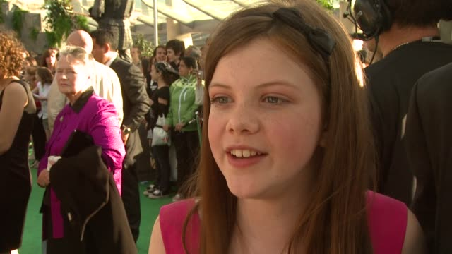 georgie henley on her character, on making history with the uk�ûªs biggest ever film premiere and how hard it will be to film the the next bone... - biggest stock videos & royalty-free footage