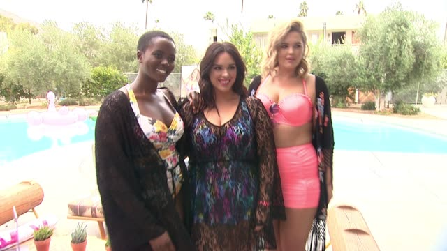 georgina burke philomena kwao and lyanna lynette at torrid #ownit pool party at the commune ace hotel at ace hotel on april 09 2016 in palm springs... - palm springs california pool stock videos & royalty-free footage