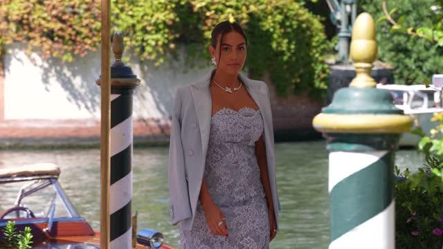 georgina rodriguez is seen arriving at the 78th venice international film festival on september 1, 2021 in venice, italy. - celebrity sightings stock-videos und b-roll-filmmaterial