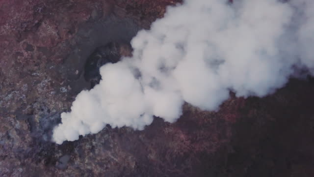 geothermal activity on iceland - geyser stock videos and b-roll footage