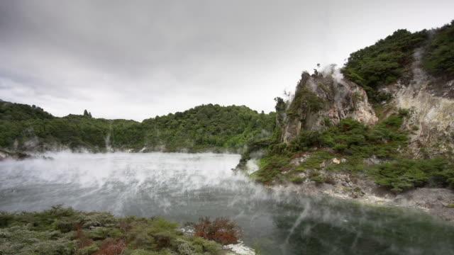 geothermal lake - rotorua stock videos and b-roll footage