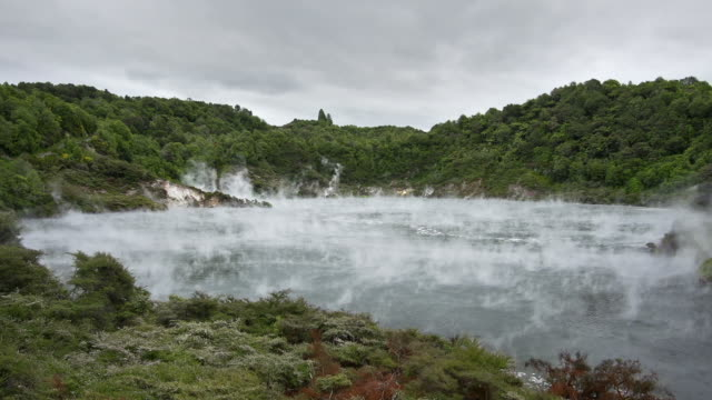 geothermal lake - hydrochloric acid stock videos and b-roll footage