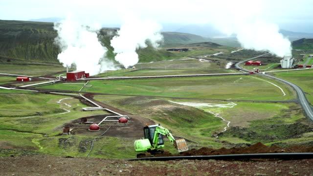 Geothermischen pipeline im Bau