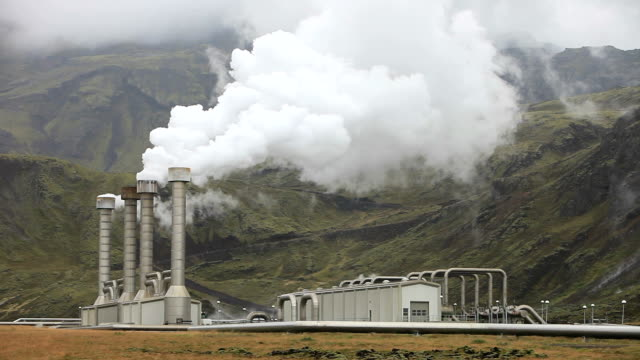 geothermal plant - hot spring stock videos & royalty-free footage