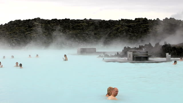 Geothermal swimming lake
