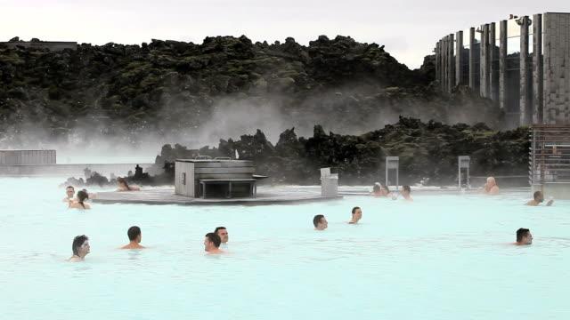 Geothermal swimming lake