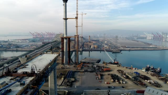 Gerald Desmond Bridge construction site