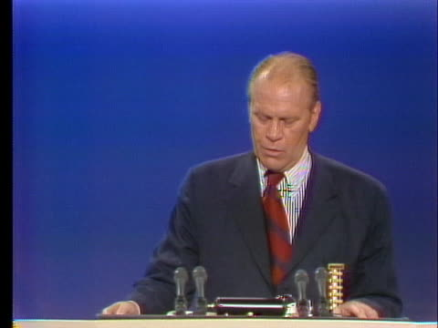 gerald ford announces the nomination of richard m. nixon as the republican candidate for the us presidency on august 23, 1972. - united states and (politics or government) stock videos & royalty-free footage