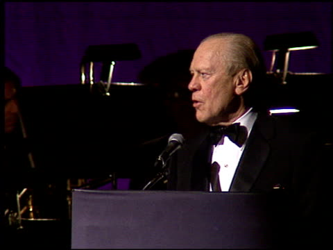 Gerald Ford at the American Cinema Awards at the Biltmore Hotel in Los Angeles California on November 2 1996