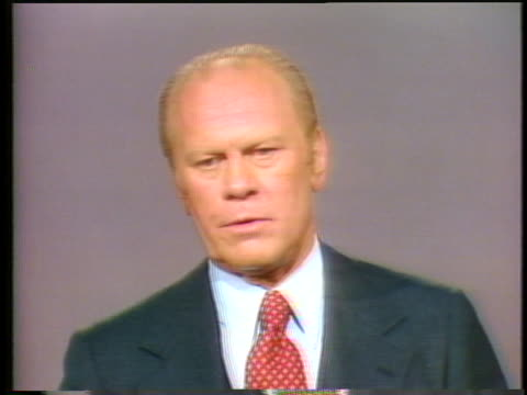 gerald ford defends secretary of state henry kissinger's work with international policies - (war or terrorism or election or government or illness or news event or speech or politics or politician or conflict or military or extreme weather or business or economy) and not usa video stock e b–roll