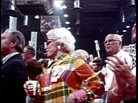 gerald ford introduces nelson rockefeller at the 1972 republican national convention - us republican party stock videos & royalty-free footage