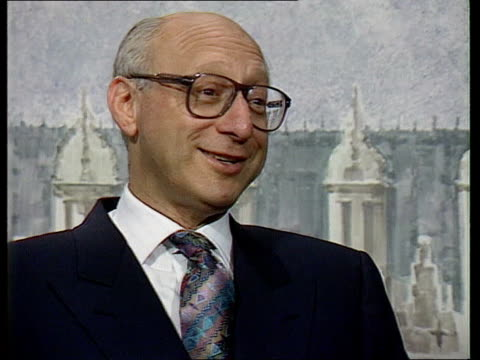 shadow cabinet resignation; england, london int cms gerald kaufman mp intvwd sof - i've had some sharp wit directed at me too - gerald kaufman stock videos & royalty-free footage