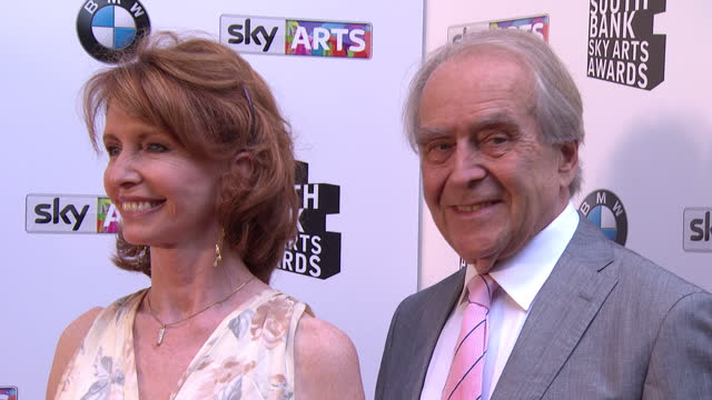 gerald scarfe and jane asher on red carpet. sky arts awards honouring best of theatre, film, music and art take place at the south bank centre in... - gerald scarfe stock videos & royalty-free footage