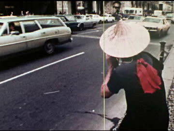 / geraldo rivera covering vietnam war protest / abc news courier on motorcycle collects roll of film to take back to the newsroom / film brought into... - 1972 stock videos & royalty-free footage