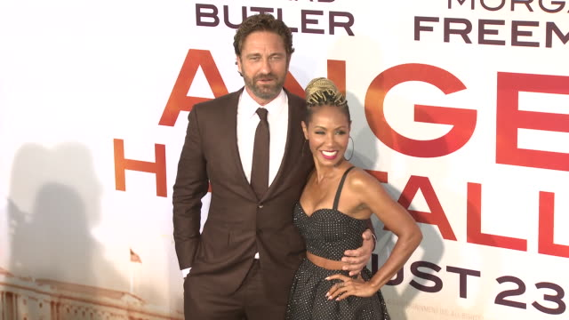 """gerard butler and jada pinkett smith at the """"angel has fallen"""" world premiere on august 20, 2019 in los angeles, california. - jada pinkett smith stock videos & royalty-free footage"""