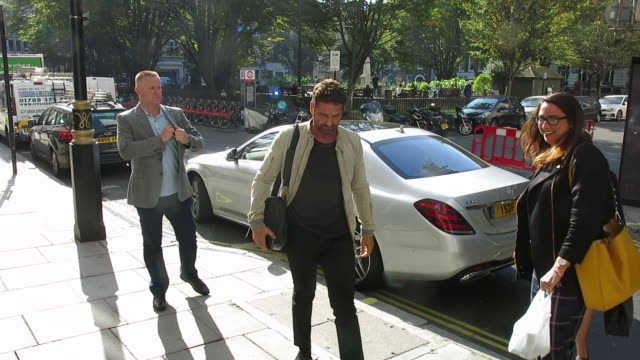 Gerard Butler arriving at Magic Radio Studios at Celebrity Sightings in London on October 05 2018 in London England