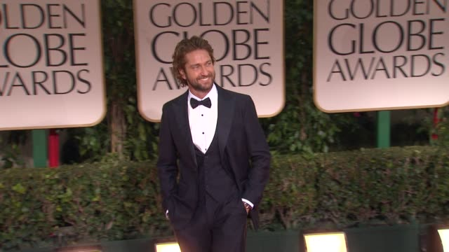 Gerard Butler at 69th Annual Golden Globe Awards Arrivals on January 15 2012 in Beverly Hills California