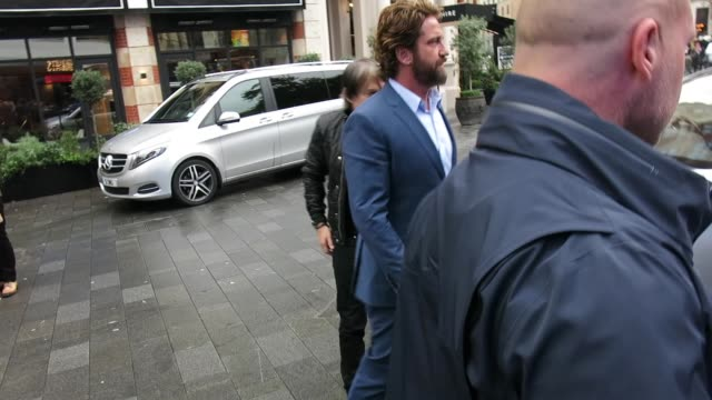 Gerard Butler at Capital Radio Studios at Celebrity Sightings in London on October 19 2017 in London England