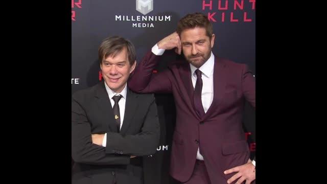 Gerard Butler at 'Hunter Killer' New York Premiere