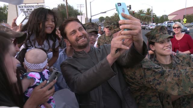 Gerard Butler at 'London Has Fallen' Military Premiere At Camp Pendleton at Camp Pendleton on February 26 2016 in Oceanside California