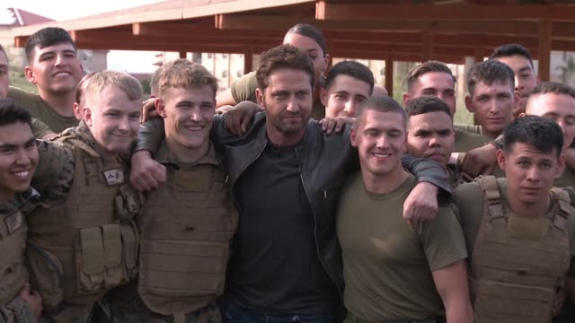 EDIT Gerard Butler at 'London Has Fallen' Military Premiere At Camp Pendleton at Camp Pendleton on February 26 2016 in Oceanside California